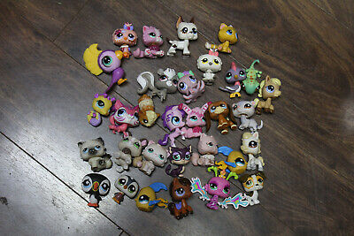 Original LPS Littlest Pet Shop Lot of 31 Mixed Pets, Dogs, Cats, & More