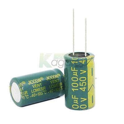 10/20/50/100PC High Frequency 450V100uF18x31mm Low Radial Electrolytic Capacitor