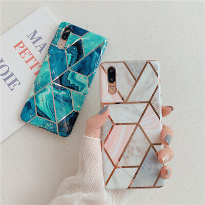 Shockproof Cases Cool Geometry Plating Case For Huawei Mate20 P30 Pro P20 Lite
