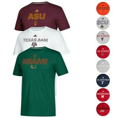 promo code 61e39 51291 NCAA Adidas Men s 2018 Sideline Text Graphic Climalite Performance T-Shirt