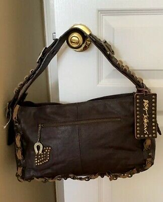Betsey Johnson Frame Satchel Vintage Kiss Cognac NWT Retails $350 Hard to Find