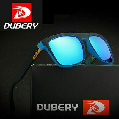 Mens Polarized Sunglasses Square Cycling Sport Driving Sun Glasses UV400 DUBERY