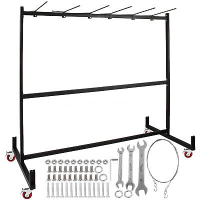 Folding Chair Rack Dolly Cart W/Locking Casters Max 30 Chairs 12 Tables Hanging