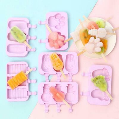 Silicone Popsicle Mold Frozen Ice Lolly Mould Tray Pan Ice Cream Maker Tool New