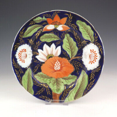 Antique English Porcelain - Hand Painted Flower Decorated Plate - Lovely!