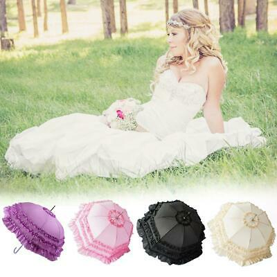Lace Embroidered Parasol Umbrella For Princess Bridal Wedding Party Decoration