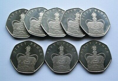"1x 2018 ""65TH ANNIVERSARY OF THE CORONATION"" CROWN ISLE OF MAN 50p COIN IoM MANX"