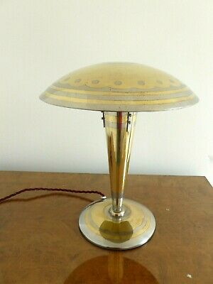 Art Deco Original  Brass Table Light.