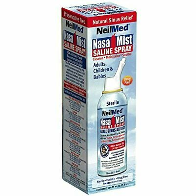 NasaMist Isotonic Saline Spray USA - for Allergy and Sinus Sufferers, (75 ml)