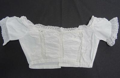 Antique Babys Christening Gown Bodice Victorian Dress Lace Trim Inserts Frill