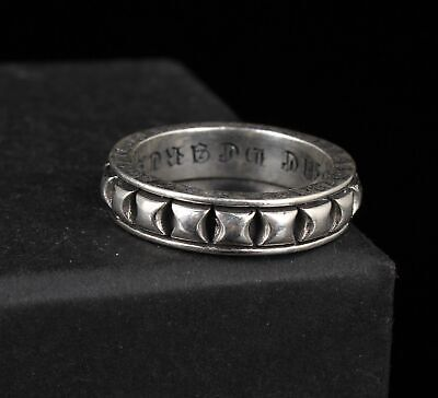 Vintage Chinese 925 Silver Ring Lady Fashion Handmade Crafts Collection Gift