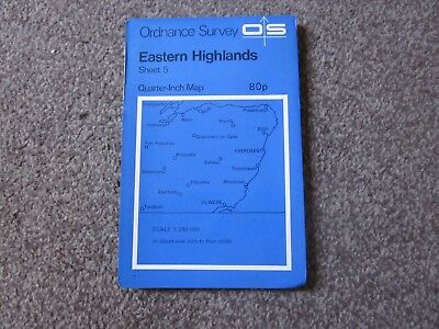 Eastern Highlands   -  Ordnance Survey Quarter-Inch Map ,  Sheet 5  ,  1974