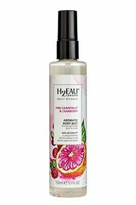 H2EAU LONDON Pink Grapefruit & Cranberry Body Mist With Real Fruit Extracts