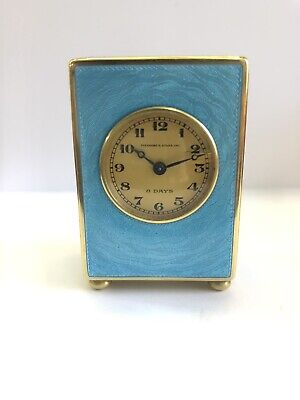 Antique Miniature Guilliche Enamel Carriage Clock, Enamel Clock, Concord Watch