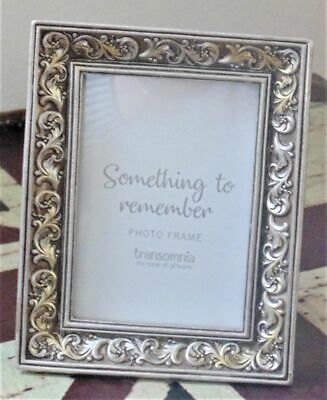 Shabby Vintage Chic Antique Silver Coloured Shaped Mini Photo Frame