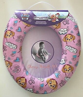 Bn Soft Padded Pink Paw Patrol Childrens Toddlers Potty Training Toilet Seat
