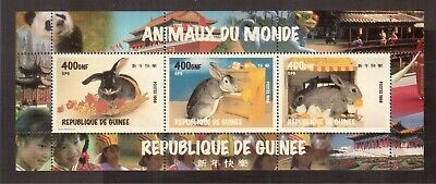 Guinea 1998 Mint Nh S/S, Animals Of The World, Rabbits !!