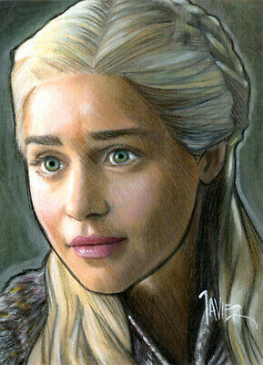 Game of Thrones DAENERYS TARGARYEN Emilia Clarke SKETCH Card PRINT 1 of 15 ART