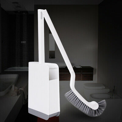 Long Handle Bathroom Portable Curved Toilet Brush Seamless Plastic Accessories