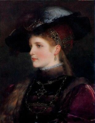 """Elegant Lady Portrait Oil painting Art Giclee Printed on Canvas 16x20"""" P054"""