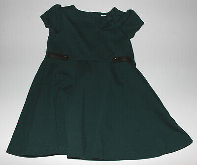 Infant Girls JANIE & JACK Dark Green Short Sleeve Dress Size 12-18 Months