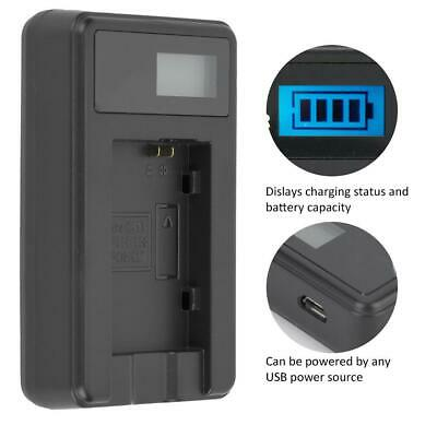 NB-10L/BP-808/NP-95 Single Slot Battery Charger for Canon/Fuji Fujifilm Cameras