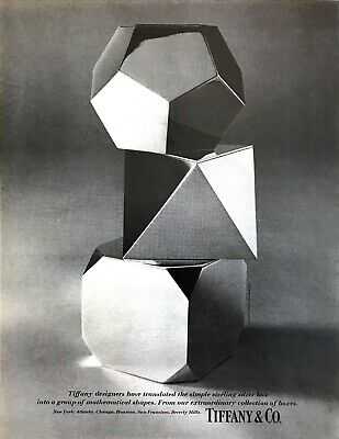 1971 Sterling Silver Boxes Group of Mathematical Shapes photo Tiffany print ad