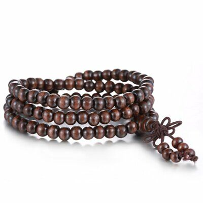 Women Men Multilayer Tibetan Buddhist Heal Wrap Bracelet Necklace Beads Jewelry