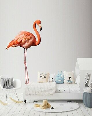 3D Pink Flamingo B66 Animal Wallpaper Mural Poster Wall Stickers Decal Wendy