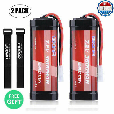 2X 7.2V NiMH 3600mAh RC Batterie Rechargeable Tamiya Plug For RC Voiture Truck