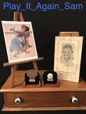 Vintage Marble Tournament Memorabilia With Medal, Pin, And Booklet L@@K