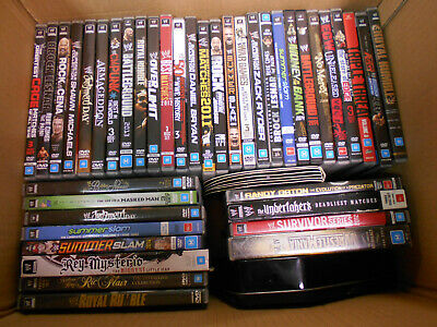 #Yy.    Job Lot Of Forty One (41)  Wwe  Wrestling  Dvds