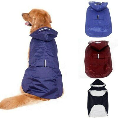 Pet Rain Coat Jacket Outdoor waterproof Rainwear Raincoat fr Medium Large Dog UK