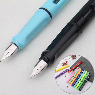 0.38mm Student Calligraphy Practice Smooth Writing Plastic Fine Nib Fountain Pen