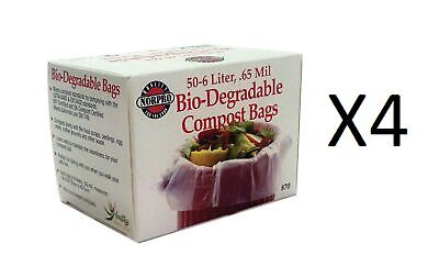 Norpro Bio-Degradable COMPOST BAGS 50count Pail/Bin Refill 6 Liters Bag (4-Pack)