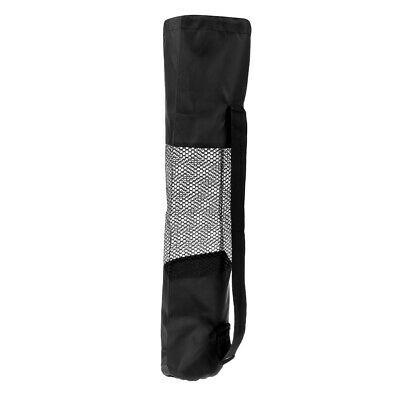 Yoga Mat Bag Mesh Center Adjustable Strap Nylon Carrier Washable Black