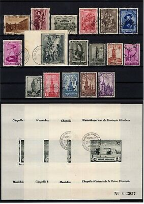 P116939/ Belgium / Semi-Postal / Lot 1938 – 1941 Used Full Sets 141 E
