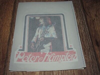 Vintage 1970's Peter Frampton T Shirt Iron On, Heat Transfer, 5x6 1/2 Inches