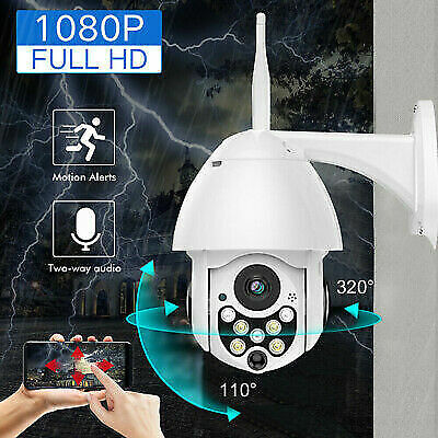 1080P HD Wifi Wireless Dome IP Camera PTZ Night Vision Outdoor CCTV Waterproof