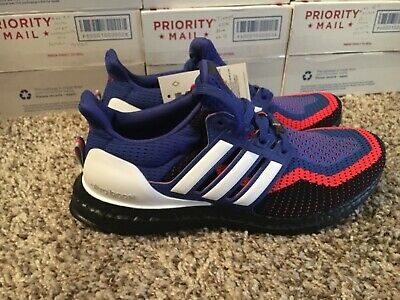 ddc484df9 Adidas Ultraboost 2.0 EF2901 Royal Blue Red Black White Mens Size 8 Asterisk