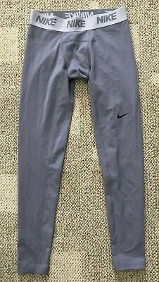 Nike Dry Men's Training Tights Base Layer Pants Gray Size Large L AJ6698-036