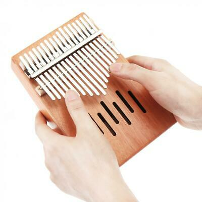 17 Key Kalimba Single Board Mahogany Thumb Piano Mbira Keyboard Instrument Kit