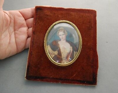 Countess Hohnstein Translyvania Princess Glass Cameo Picture Germany Royalty
