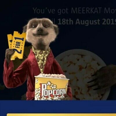 Meerkat Movies 2 For 1 Cinema Code. 50p Offers Accepted *email dispatch*