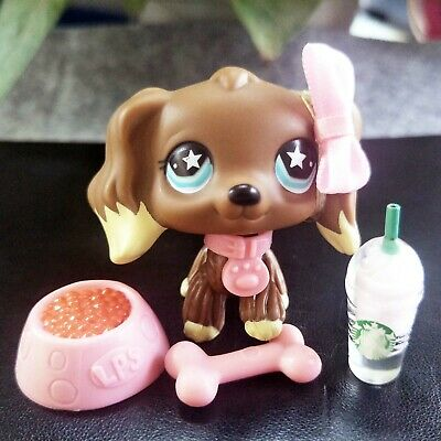 Authentic Hasbro Littlest Pet Shop LPS Cocker Spaniel #960 With Magnet Very Rare