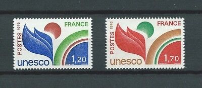 FRANCE SERVICE - 1978 YT 56 à 57 - TIMBRES NEUFS** LUXE