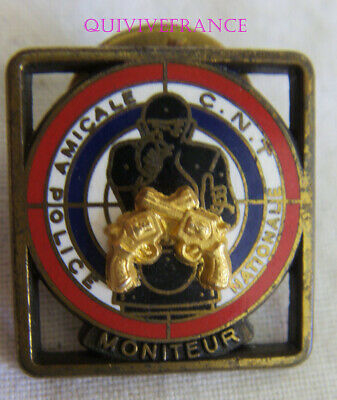 BG10144 - INSIGNE BADGE PIN'S POLICE NATIONALE AMICALE CNT MONITEUR bronze