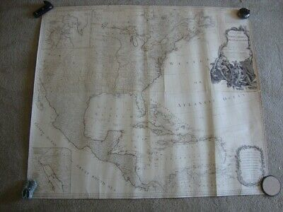 Original Large 1783 Laurie & Whittle Coast To Coast United States Wall Map