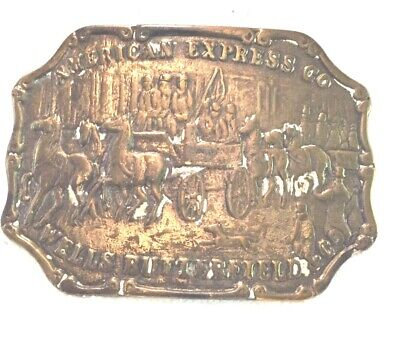 VINTAGE BELT BUCKLES WESTERN AMERICANA American Express CO, WELLS RUTHERFORD (1)