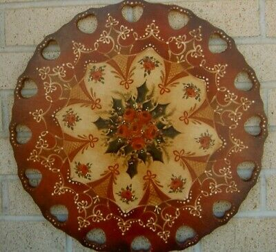 """Charles Johnson vintage tole painting pattern """"Victorian Lazy Susan"""""""